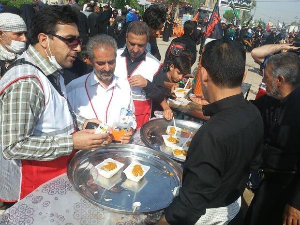 سنجش و آموزش بهداشت آب و موادغذایی در مسیر پیادهروی زائران حسینی